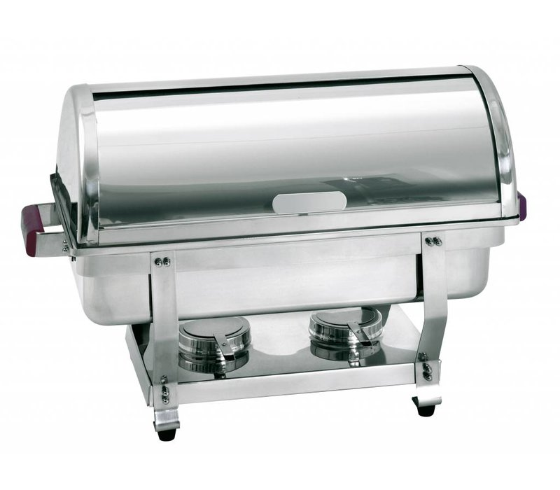 Bartscher Chafing Dish | 1/1 GN | With Rolltop cover | Deluxe | 620x350x (H) 430mm