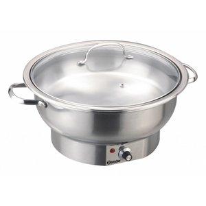 Bartscher Elektro Chafing Dish | Chromnickelstahl | Rund | 3,8 Liter | Einstellbarer Thermostat | 330x (H) 220mm