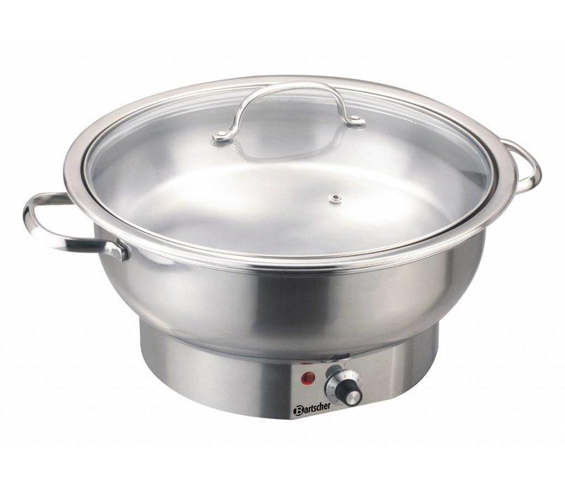 Bartscher Elektro Chafing Dish   Chromnickelstahl   Rund   3,8 Liter   Einstellbarer Thermostat   330x (H) 220mm