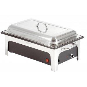 Bartscher Elektrische Chafing Dish | 1/1 GN | 100mm diep | Zwarte Waterbak | 636x357x(H)287mm