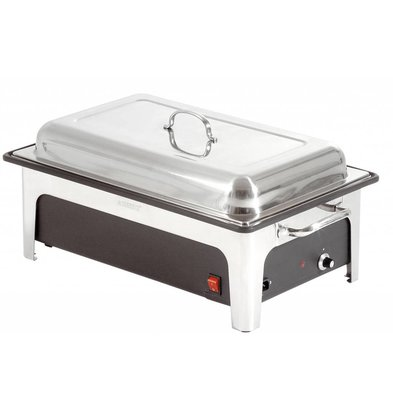 Bartscher Electric Chafing Dish | 1/1 GN | 100mm deep | Black Water Tank | 636x357x (H) 287mm