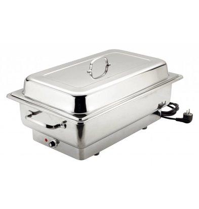 Bartscher Elektro Chafing Dish | Chromnickelstahl | 1 / 1GN | Delluxe | 623x356x (H) 285mm