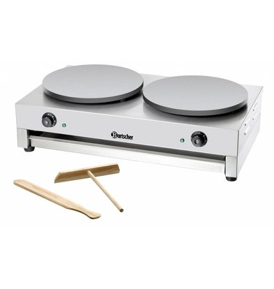 Bartscher Crepes Double Griddle | Professional / Electrical | 2 x 3000W / 230V | 40 cm diameter