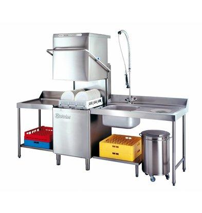 Bartscher Pass Trough Dishwasher | 50x50cm | 75x84x (h) 134 / 197cm | Cycle 60/110/150 sec | 400V