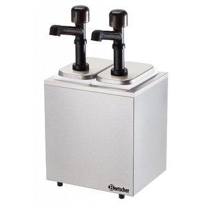 Bartscher Komplette sausdispencer mit zwei Pumpen - 2 x 3,3 Liter