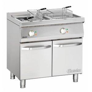 Bartscher fryer | electric | 2 x 15 liters | 400V | 30kW | With Mount | 800x700x (h) 850-900 mm