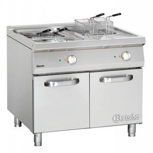 Bartscher fryer | electric | 2 x 18 liters | 400V | 30kW | With Mount | 130x280x (h) 145 mm