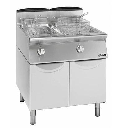 Bartscher fryer   gas   2x13 Liter   18,8kW   With Substructure   60x70x (h) 85cm