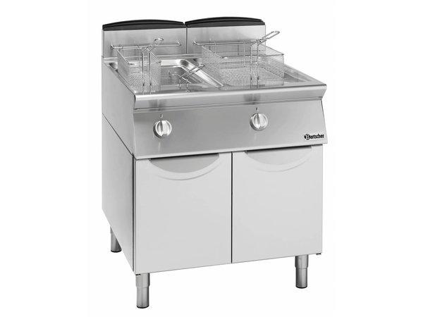 Bartscher fryer | gas | 2x13 Liter | 18,8kW | With Substructure | 60x70x (h) 85cm