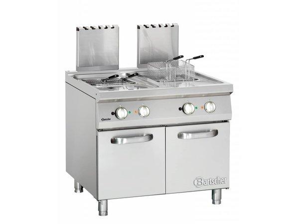 Bartscher fryer | gas | Series 900 | 2x20Liter | 36kW | 2 Indoor Pan | 90x90x (h) 85 / 90cm