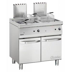 Bartscher fryer | gas | Series 700 | 2x15Liter | 30kW | 2 Indoor Pan | 80x70x (h) 85 / 90cm