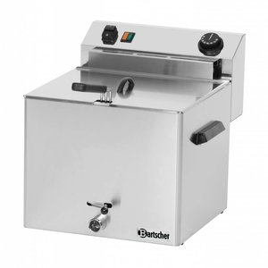 Bartscher Electric Fryer PRO | 10 Liter | With drain valve | 8,1kW | 400V | 390x450x (H) 375mm