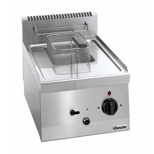 Bartscher Electric Fryer | 1x6 Liter | Series 600 | 230V | 3,3kw | With fixed Heater | 400x600x (H) 290 mm