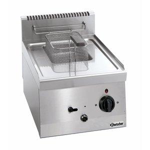 Bartscher Elektrische Friteuse | 1x6 Liter | Serie 600 | 230V | 3,3kw | Met vast Verwarmingselement |  400x600x(H)290 mm
