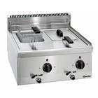 Bartscher Elektrische Friteuse | Met Vast Verwarmingselement | 2 x 6 Liter | Serie 600 | 400V | 6,6kW | 600x600x(H)290mm