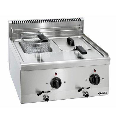 Bartscher Electric Fryer   With Fixed Heater   2 x 6 Liter   Series 600   400V   6,6kW   600x600x (H) 290mm