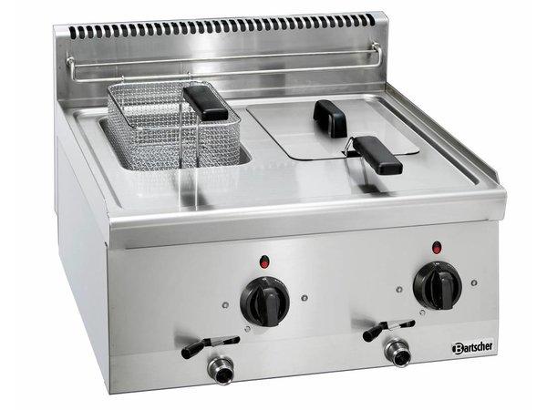 Bartscher Elektrische Friteuse   Met Vast Verwarmingselement   2 x 6 Liter   Serie 600   400V   6,6kW   600x600x(H)290mm