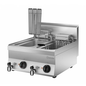 Bartscher Friteuse Elektrisch | Met Uitklapbaar Verwarmingselement | 400V | 18kW | 2x10 Liter | 600x650x(H)295mm