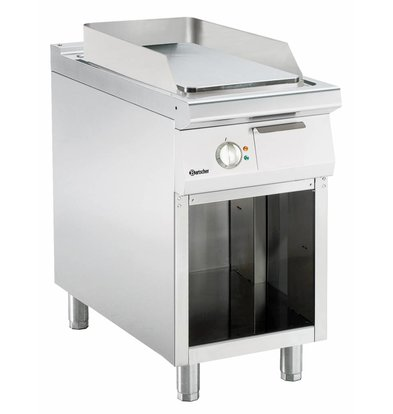 Bartscher Electric griddle - smooth - 45x90x (h) 85 / 90cm - Open substructure - 400V / 6,6kW