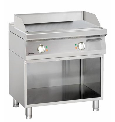 Bartscher Electric griddle - smooth - 80x70x (h) 85 / 90cm - Open substructure - 400V / 10kW