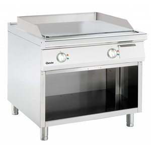 Bartscher Electric griddle - smooth - 90x90x (h) 85 / 90cm - 400V / 13,2kW - Open substructure