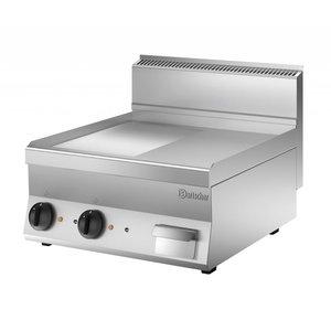 Bartscher Elektrische grillplaat - 1/2 glad - 1/2 geribd - 60x65x(h)29cm - 400V/7,8kW
