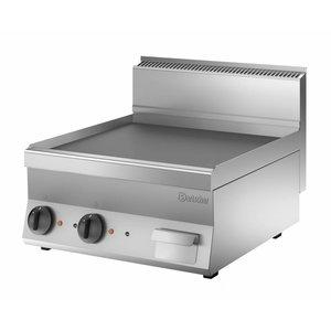 Bartscher Elektrische grillplaat - Glad - 60x65x(h)29cm - 7,8kW
