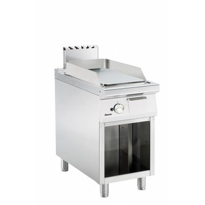 Bartscher Gas Fry Top Smooth - 34,6x65,8cm - Open substructure - 8 Kw