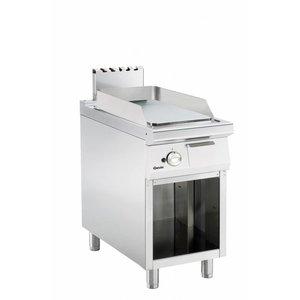 Bartscher Gas Fry Top Smooth - 34,6x65,8cm - Open Unterbau - 8 kW