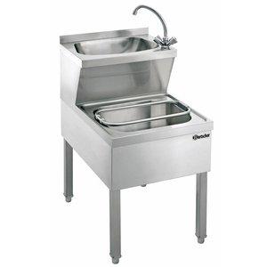 Bartscher Stainless Steel Hand sink Combined | Slop Sink | 510x700x (H) 850 mm