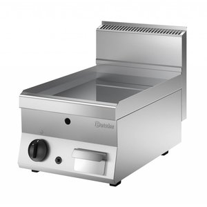 Bartscher Gas Grill Plate Smooth - 40x65x (H) 29.5 cm - 5.0 kW