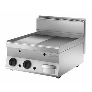 Bartscher Gas Grillplatte - glatte halbe - halbe Rippen - 60x65x (H) 29.5 cm - 10 kW