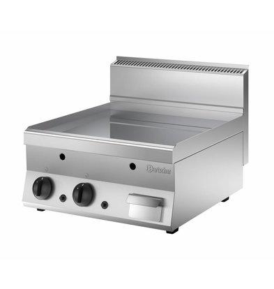 Bartscher Gas-Grill Plate - Smooth - 60x65x (H) 29.5 cm - 10 kW
