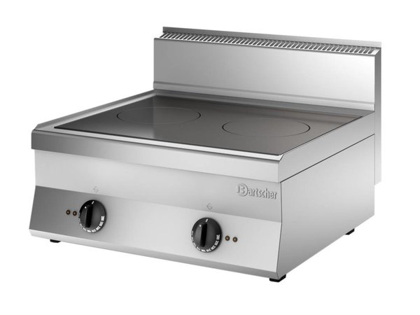 Bartscher Induction Cooker with two Zones | 400V | 10kW | 700x650x (H) 295 mm
