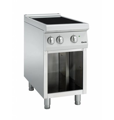 Bartscher Inductie Kooktoestel met 2 Kookzones Serie 900 | 400V | 10kW | 450x900x(H)850-900mm