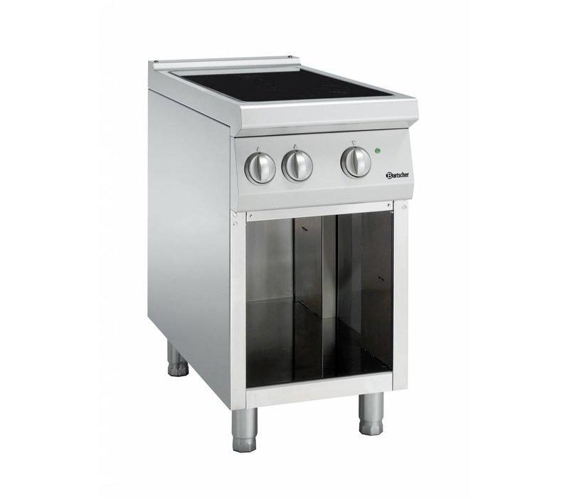 Bartscher Induction hob with two cooking zones Series 900 | 400V | 10kW | 450x900x (H) 850-900mm