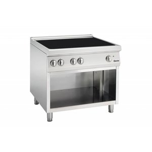 Bartscher Induction hob with four cooking zones Series 900 | 400V | 20kW | 900x900x (H) 850-900mm