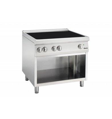Bartscher Inductie Kooktoestel met 4 Kookzones Serie 900 | 400V | 20kW | 900x900x(H)850-900mm
