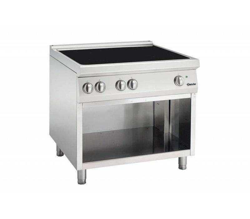 Bartscher Induktionskochfeld mit vier Kochstellen Serie 900 | 400V | 20kW | 900x900x (H) 850-900mm