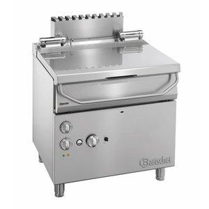 Bartscher Gas Kantelbare Braadpan | Serie 700 | Met elektrisch bediend kantelwiel | 12, kw | 230V | 800x700x(H) 850-900mm