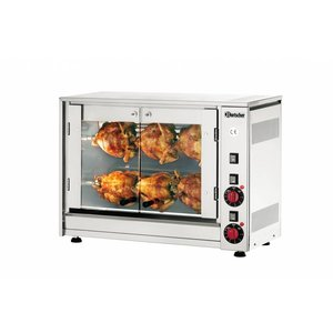 Bartscher Electric Chicken Grill - 2 Digging - 700x360x (h) 530mm - 2.8KW - 6 Chickens