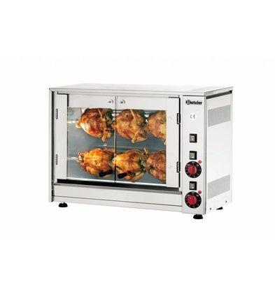 Bartscher Elektrische Chicken Grill - 2 Graben - 700x360x (h) 530 mm - 2,8 kW - 6 Hühner