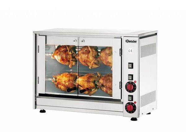 Bartscher Electric Chicken Grill - 2 Digging - 700x360x (h) 530mm - 2.8KW - 6 Chickens