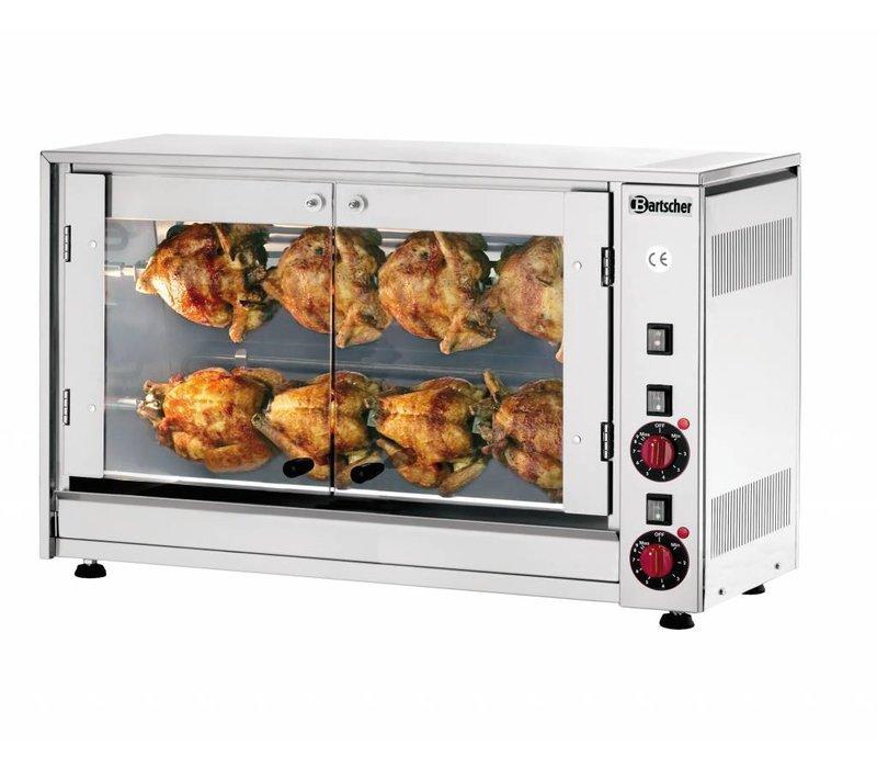 Bartscher Elektrische Chicken Grill - 2 Graben - 880x430x (h) 530mm - 3.5KW - 8 Hühner