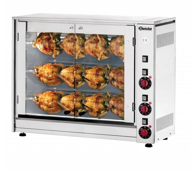 Bartscher Elektrische Chicken Grill - 3 Spits - 880x430x (h) 710mm - 5 KW - 12 Hens