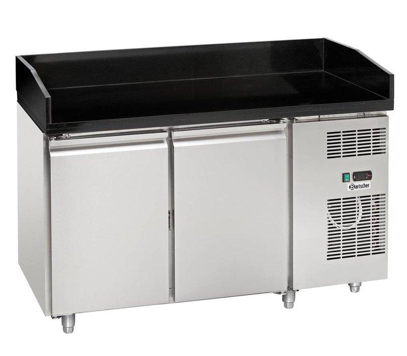 Bartscher Pizza Workbench - RVS - two doors - 140x70x (h) 95cm - Marble worktop