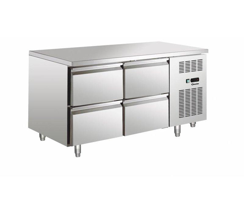 Bartscher Koelwerkbank - 4 drawers - 140x70x (H) 85cm