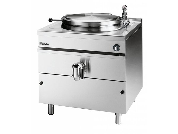 Bartscher Electric Boiling Pan Indirect Heating - 100L - 900x900x (h) 900mm - 16KW