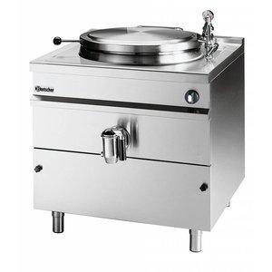Bartscher Elektrische Kookketel Indirecte Verhitting - 150L - 900x900x(h)900mm - 18KW