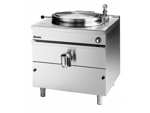 Bartscher Electric Boiling Pan Indirect Heating - 150L - 900x900x (h) 900mm - 18KW